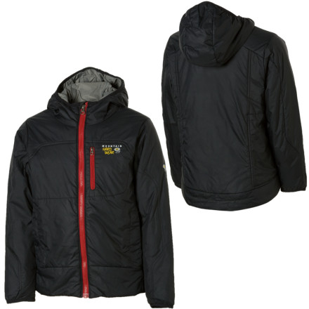 photo: Mountain Hardwear Boys' Hooded Compressor Jacket synthetic insulated jacket