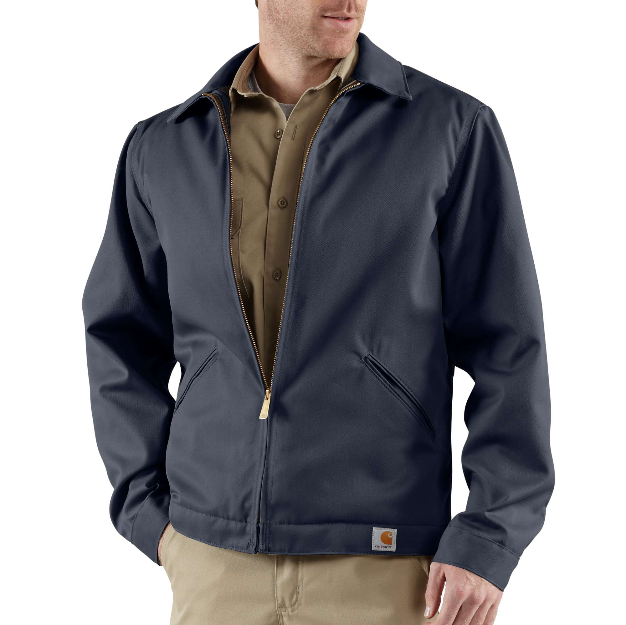 Carhartt Twill Work Jacket/Midweight Quilt Lined