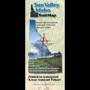 Adventure Maps Sun Valley Trail Map