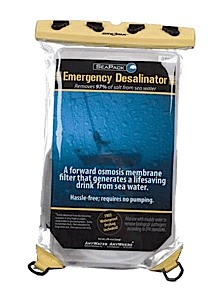 photo: HTI SeaPack Emergency Desalinator water purifier