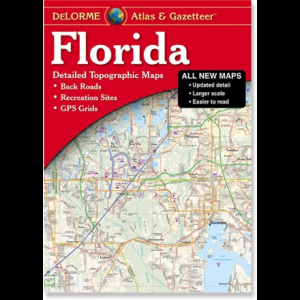 photo: DeLorme Florida Atlas and Gazatteer us south paper map