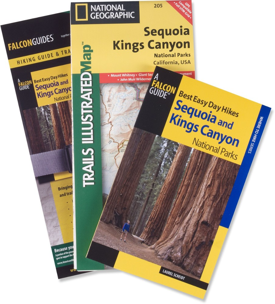 Morris Publishing Hiking Guide and Trail Map Bundle: Sequoia and Kings Canyon National Parks