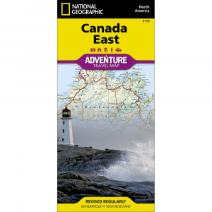 photo: National Geographic Canada East Adventure Travel Map canadian paper map