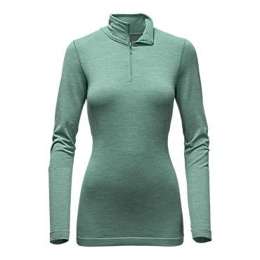 photo: The North Face Go Seamless Wool 1/4 Zip long sleeve performance top
