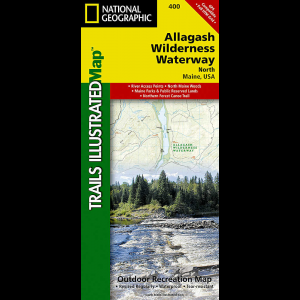 photo: National Geographic Allagash Wilderness Waterway North Trail Map us northeast paper map