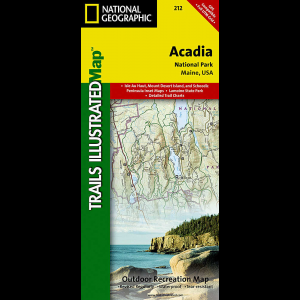 photo: National Geographic Acadia National Park Map us northeast paper map