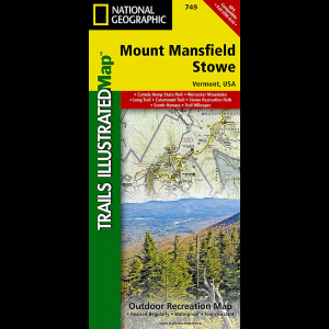 National Geographic Mount Mansfield/Stowe Map