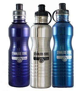 photo: New Wave Enviro Stainless Steel Bottle 1L water bottle