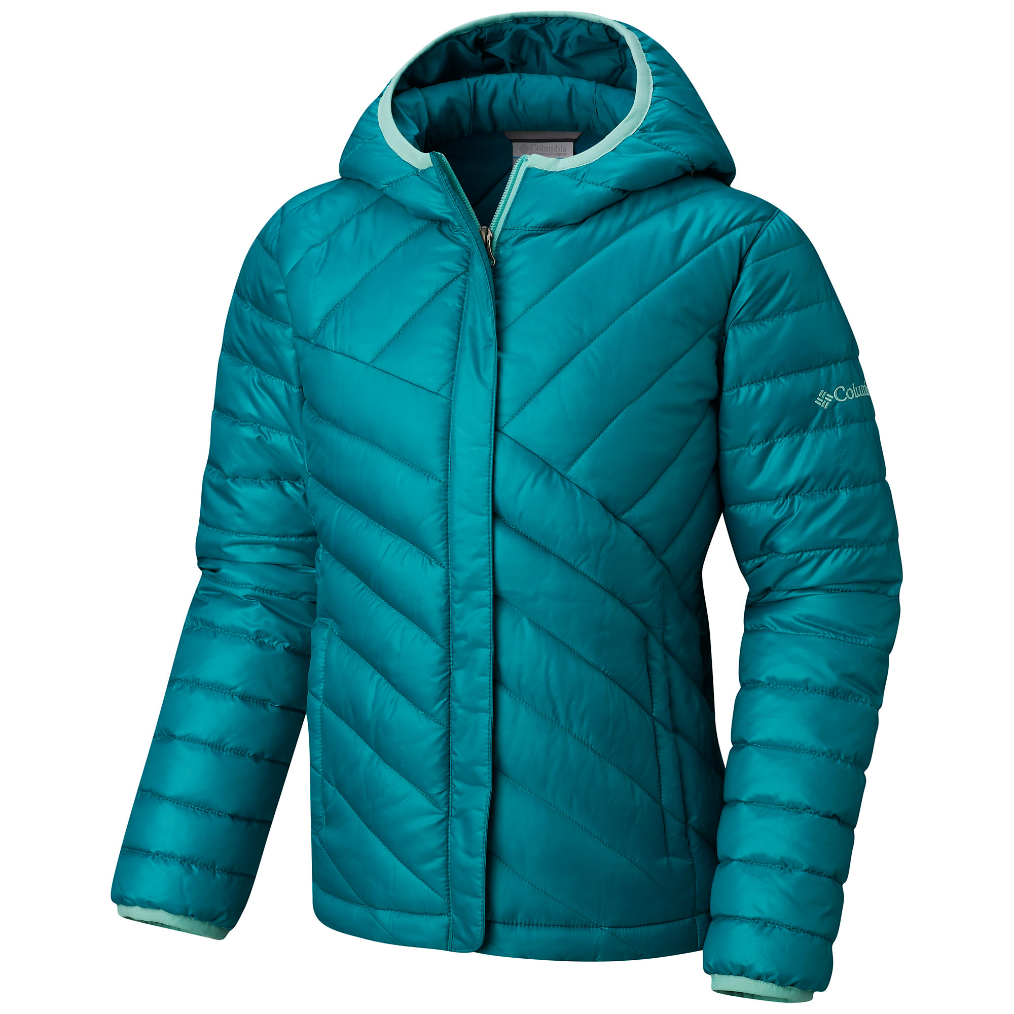 photo: Columbia Girls' Powder Lite Puffer synthetic insulated jacket