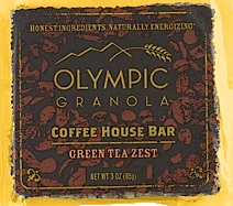 Olympia Granola Green Tea Zest Coffee House Bar