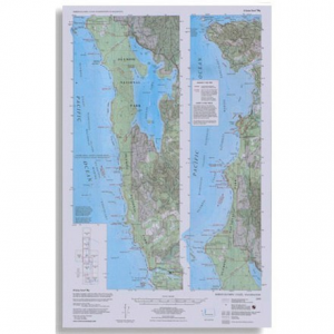 photo: Little River Enterprises Custom Correct North Olympic Coast Map us pacific states paper map