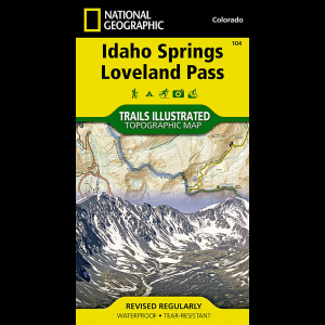 National Geographic Idaho Springs/Georgetown/Loveland Pass Map