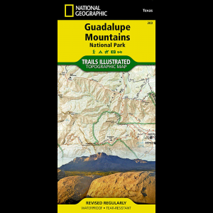 photo: National Geographic Guadalupe Mountains National Park Map us south paper map