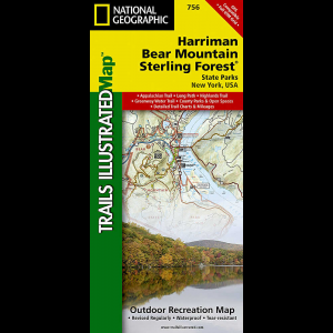 National Geographic Harriman, Bear Mountain and Sterling Forest State Parks Trail Map