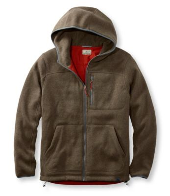 L.L.Bean Sweater Fleece Full-Zip Hooded Jacket