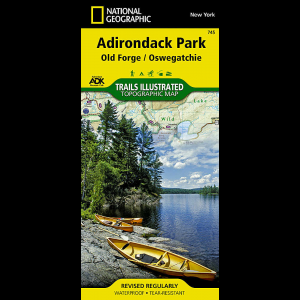 photo: National Geographic Old Forge/Oswegatch Map - Adirondack National Park us northeast paper map