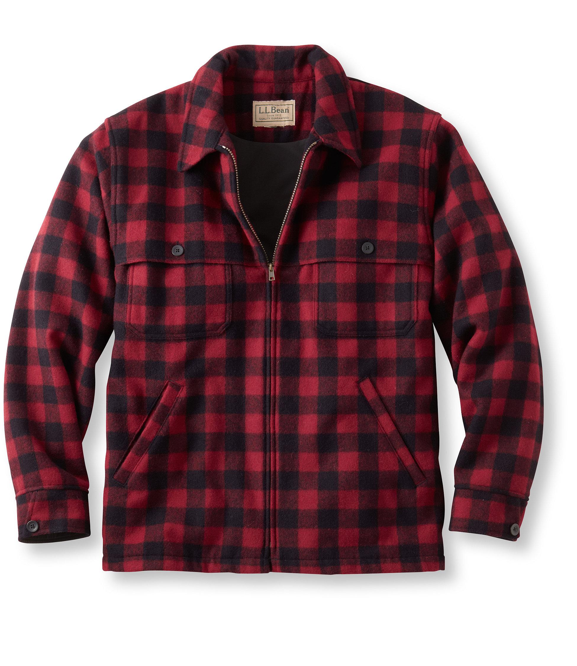 L.L.Bean Maine Guide Zip-Front Jac-Shirt, Windstopper
