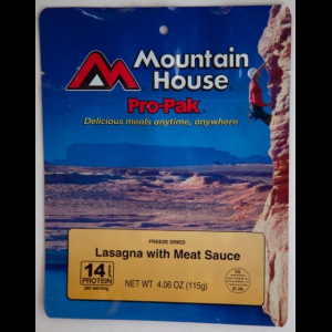 Mountain House Lasagna with Meat Sauce Pro-Pak