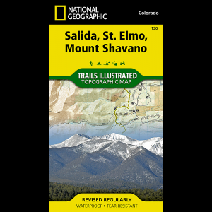 National Geographic Salida, St. Elmo, Shavano Map