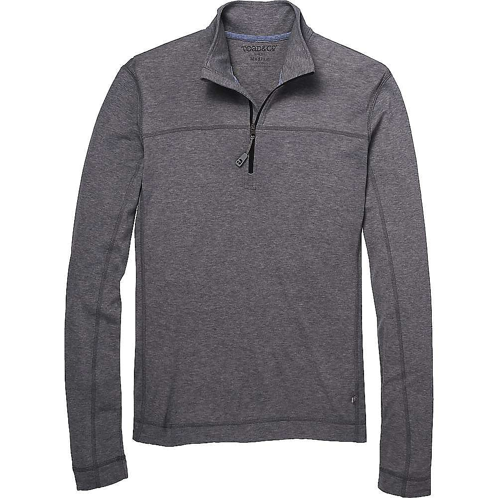 photo: Toad&Co Pacer Slim Long Sleeve Quarter Zip base layer top