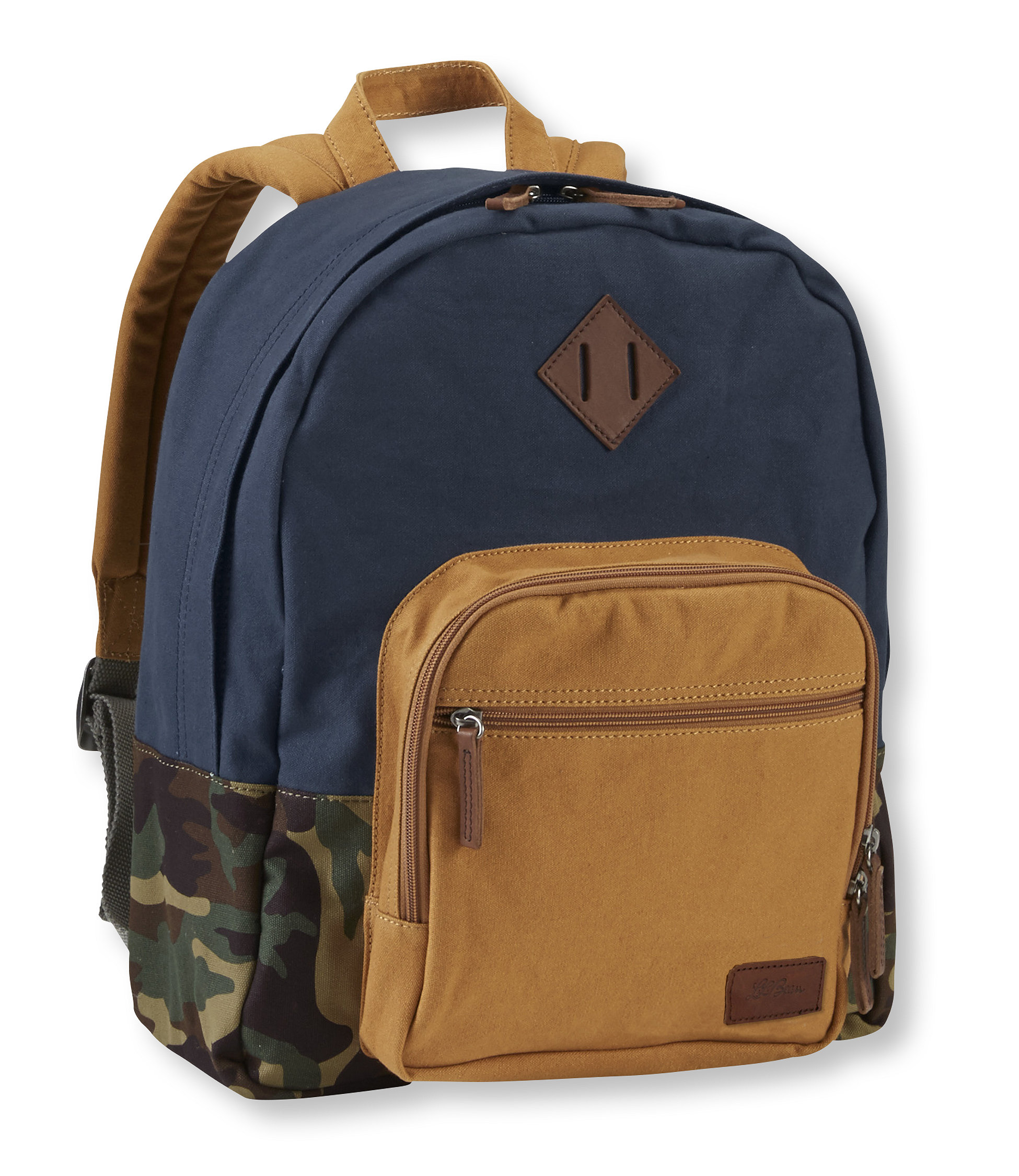 L.L.Bean Field Canvas And Leather Classic Backpack