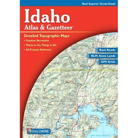 photo: DeLorme Idaho Atlas and Gazetteer us mountain states paper map