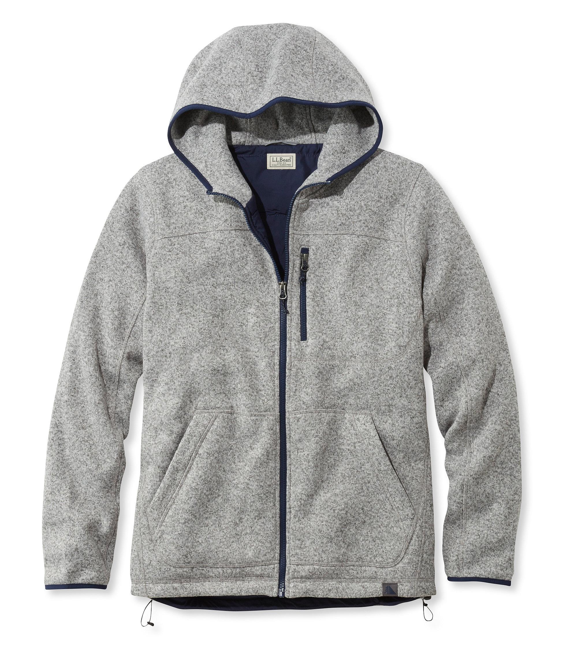 L.L.Bean Sweater Fleece Full-Zip Hooded Jacket