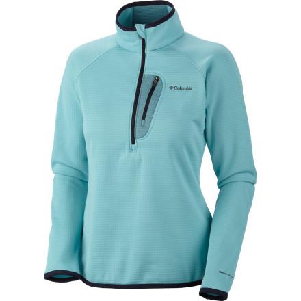 photo: Columbia Women's Grid Grit ½ Zip fleece jacket