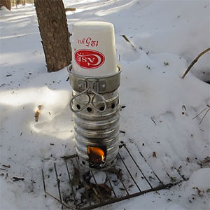photo:   Swiss Volcano Stove solid fuel stove