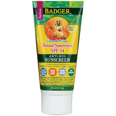 Badger Active Broad Spectrum SPF 34 Anti-Bug Sunscreen