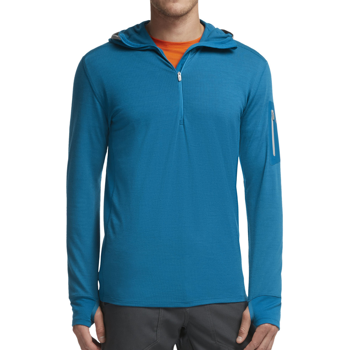 Icebreaker Compass Long Sleeve Half Zip Hood