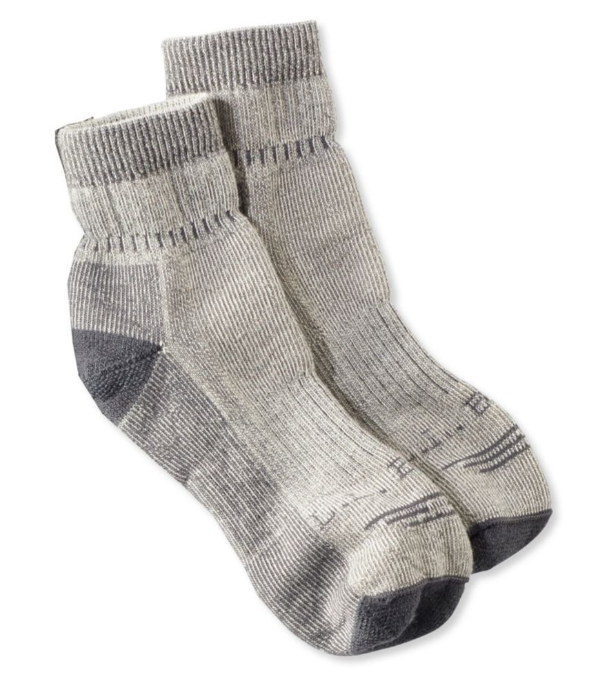 photo: L.L.Bean Men's Cresta Hiking Socks, Wool-Blend Midweight Quarter Crew hiking/backpacking sock