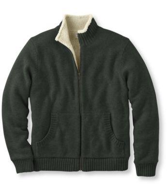 L.L.Bean Sherpa Fleece-Lined Sweater, Full Zip