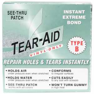 photo of a Tear-Aid patch/tape