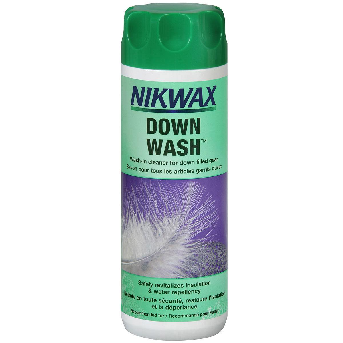 photo: Nikwax Down Wash down cleaner/treatment