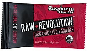 Raw Indulgence Raw Revolution Organic Raspberry & Chocolate Bar
