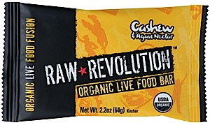 Raw Indulgence Raw Revolution Organic Cashew & Agave Nectar Bar