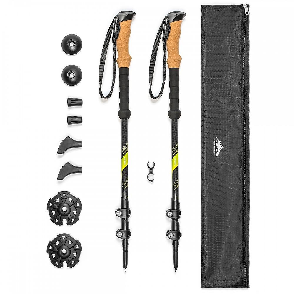 photo: Cascade Mountain Tech Carbon Fiber Quick Lock Trekking Poles Cork Grip rigid trekking pole