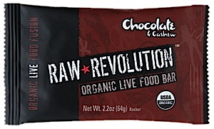 Raw Indulgence Raw Revolution Organic Chocolate & Cashew Bar