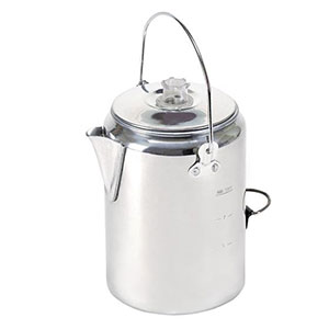 Stansport Aluminum Percolator Coffee Pot 9-Cup