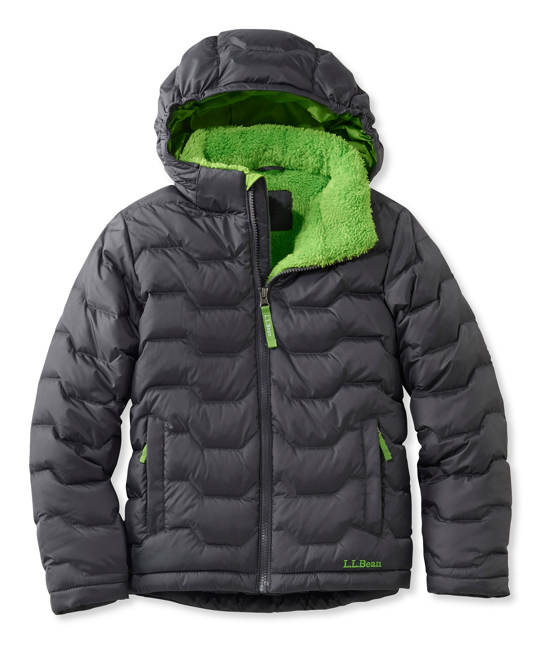 photo: L.L.Bean Boys' Fleece-Lined Down Jacket down insulated jacket
