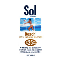 Sol Sunguard Beach SPF 25 32 oz Pump Bottle