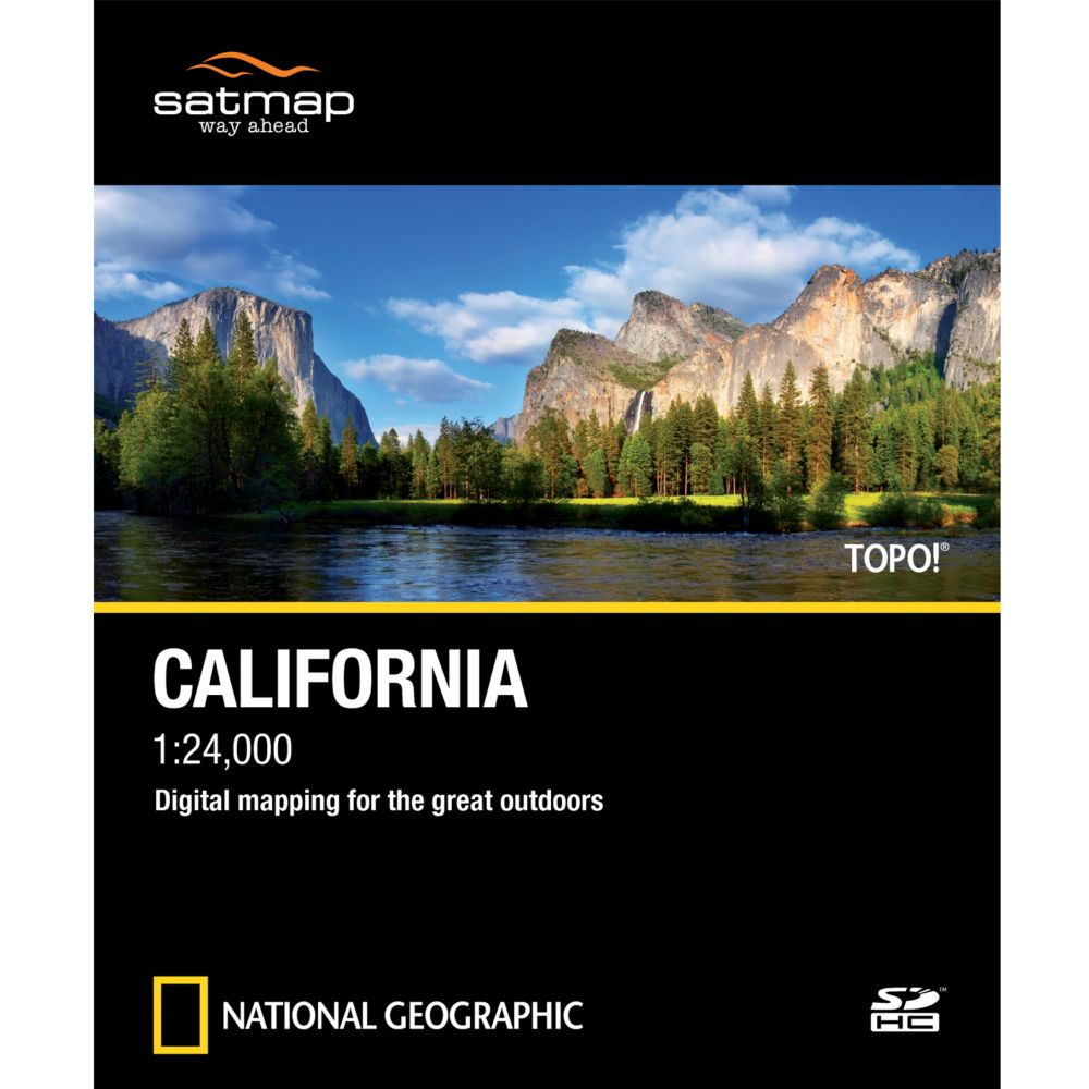 photo: Satmap National Geographic TOPO! California SD Card us pacific states map application