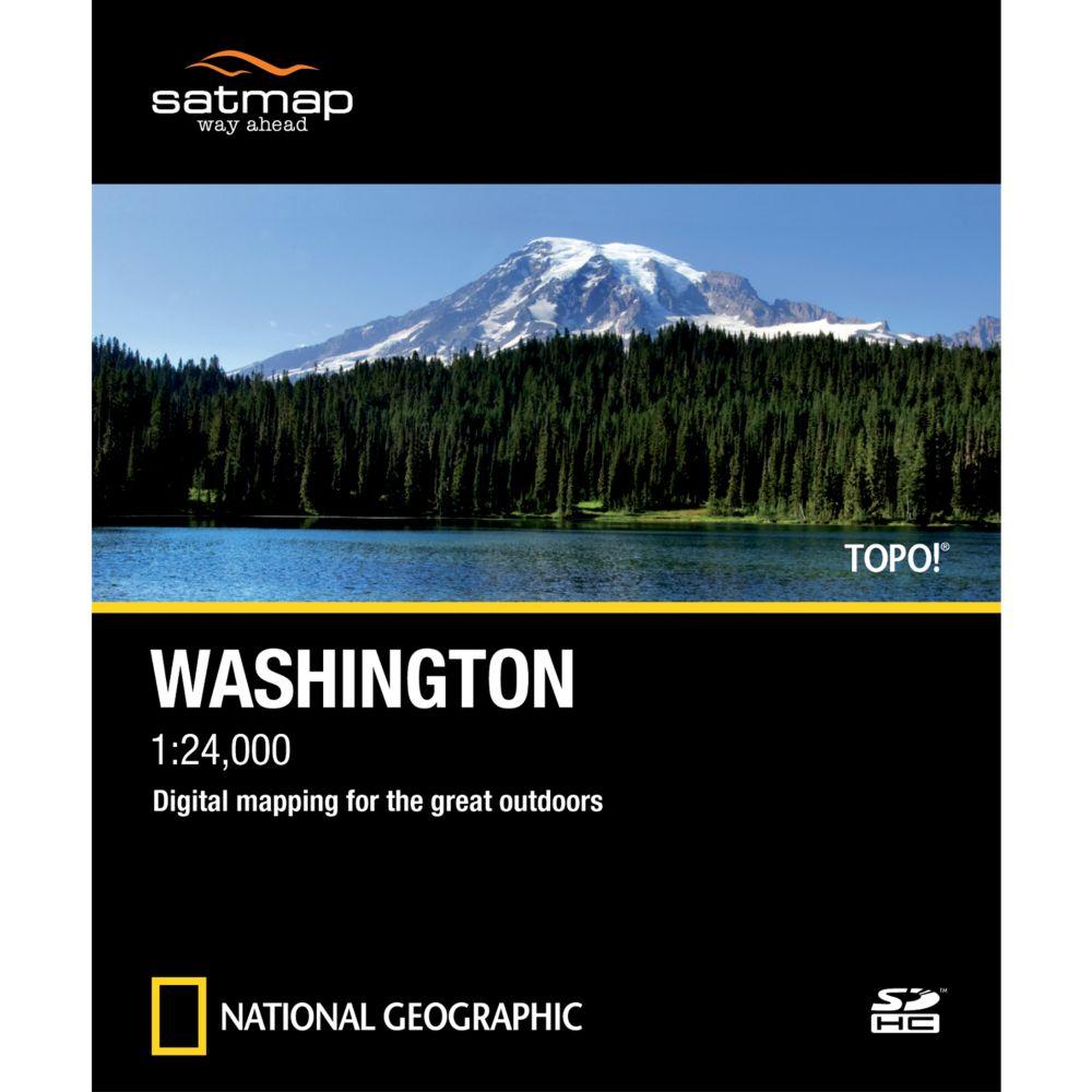 photo: Satmap National Geographic TOPO! Washington SD Card us pacific states map application