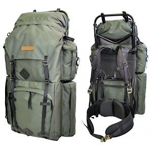 photo of a Savotta external frame backpack
