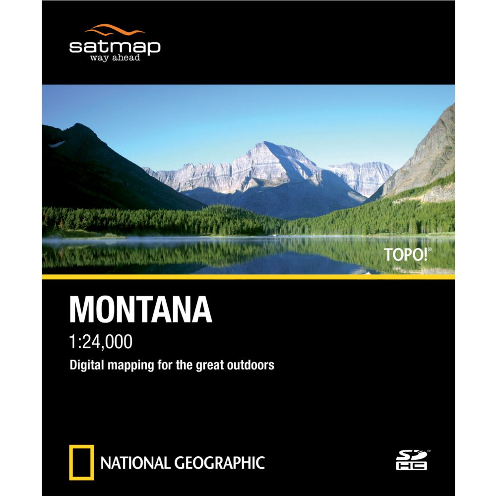 photo: Satmap National Geographic TOPO! Montana SD Card us mountain states map application