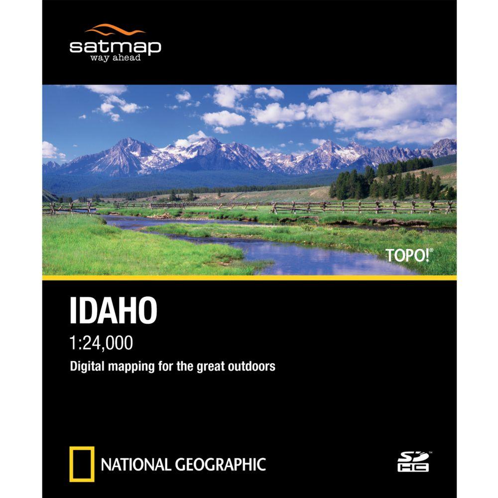 photo: Satmap National Geographic TOPO! Idaho SD Card us mountain states map application