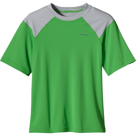 photo: Patagonia Boys' Sun-Lite Tee short sleeve performance top