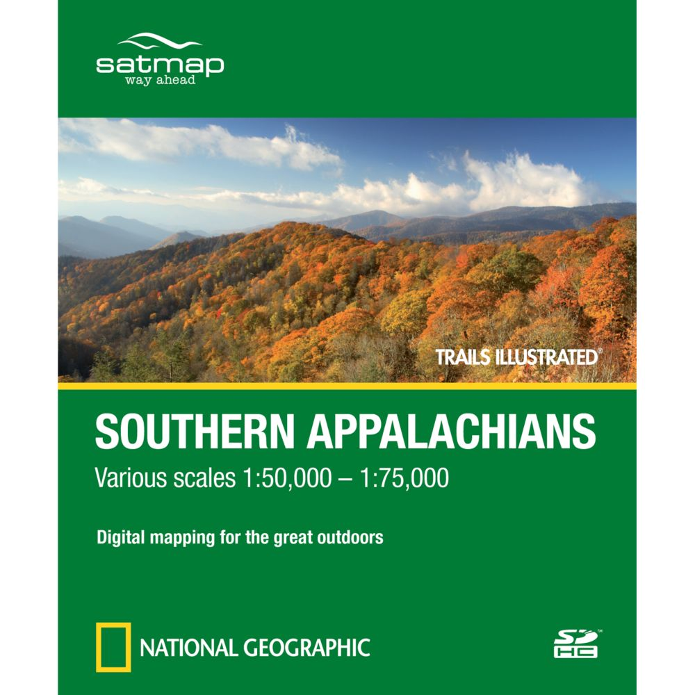 photo: Satmap National Geographic Trails Illustrated: Southern Appalachians SD Card us south map application