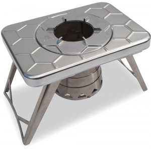 photo of a nCamp wood stove